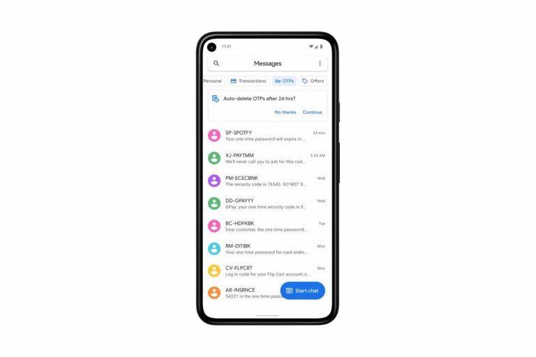Google Messages will Auto Delete OTPs after 24 Hours in India