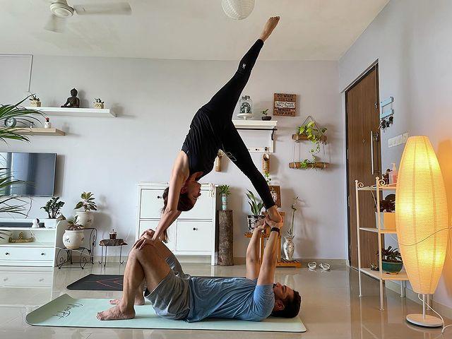 Rubina Dilaik Practices Couple Yoga With Her 'Bae' Abhinav Shukla