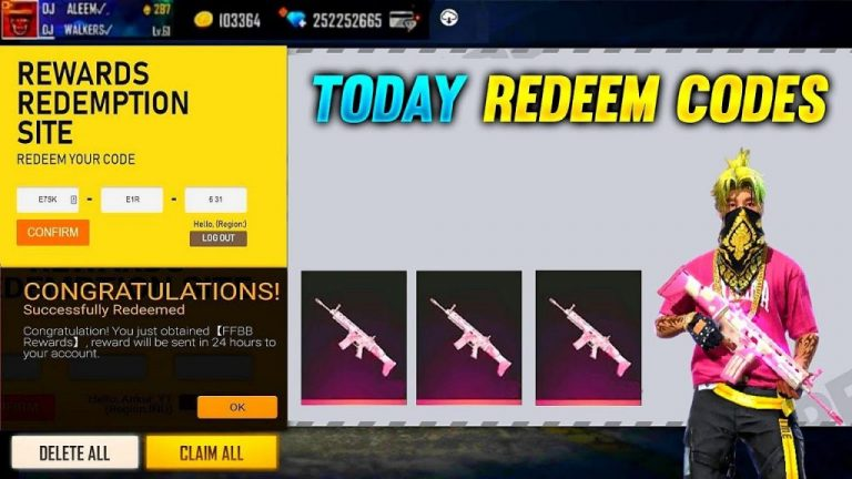 Free Fire Redeem Codes for Today 6th July